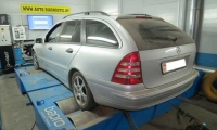 Чип-тюнинг Mercedes-Benz C200 2.2CDI DPF 122 hp 2006 г.в.
